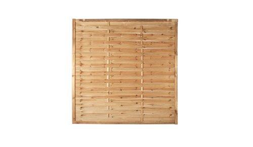 Zaun Discount 10 x Lamellenzaun Sichtschutzwände im Maß 180 x 180 cm aus Kiefer/Fichte Holz, druckimprägniert 'Hamburg' Aktionspreis