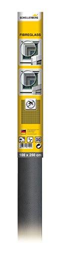 Schellenberg 57109 Fliegengitter Fiberglasgewebe   100 x 250 cm   anthrazit   hochwertig & kein Ausfransen beim Zuschneiden   vielseitig einsetzbar   UV-beständig & reißfest