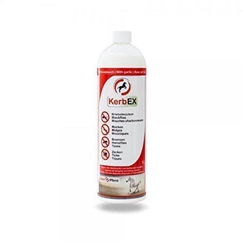KerbEx rot 1Liter Insektenabwehrmittel mit Knoblauch für Pferde