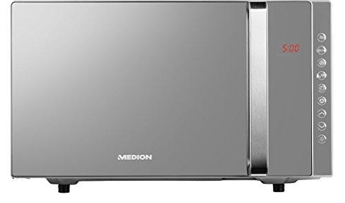 MEDION MD 17495 3-in-1 Mikrowelle mit Grill und Heißluft Funktion / 800 Watt Mikrowellenleistung / 1200 Watt Obergrillleistung / 23 Liter/silber