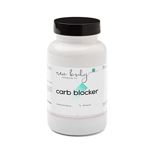 AKTION Carb Blocker - Bindung der Kohlenhydrate mit weißem Bohenpulver und Bockshornkleesamen / in Verbindung mit jeder Diät (z.B. HCG Stoffwechselkur, Low Carb Diät) einsetzbar - Kohlenhydratblocker in höchster Qualität aus Deutschland - 90 Kapseln