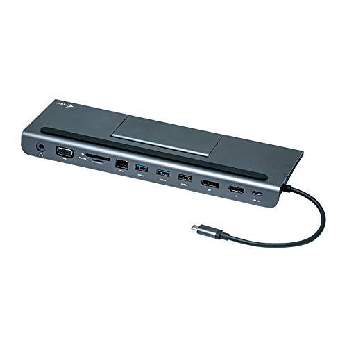 I-Tec USB-C 4K Metal Low Profile Docking Station (1x HDMI, 1x VGA, 1x Displayport, 1x Ethernetglan, 1x 3.5mm Audioout, 2x USB-A 3.0Port, 1x USB-A 2.0, 1x USB-C Power deliver, Thunderbolt 3 kompatibel)
