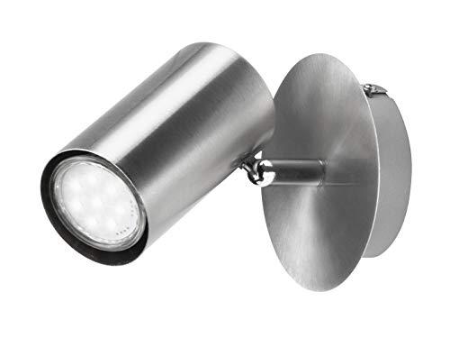 Moderner LED Wandstrahler für Innen in Nickel matt - Spot flexibel dreh- und schwenkbar für optimale Ausleuchtung