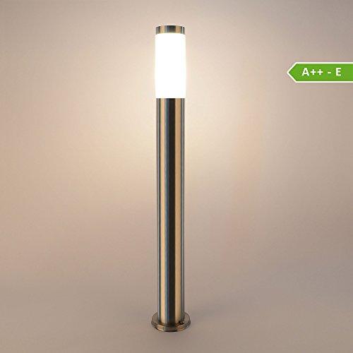 Wegeleuchte Aussenleuchte Standleuchte Standlampe 232-800 Gartenleuchte Edelstahl E27 80 cm