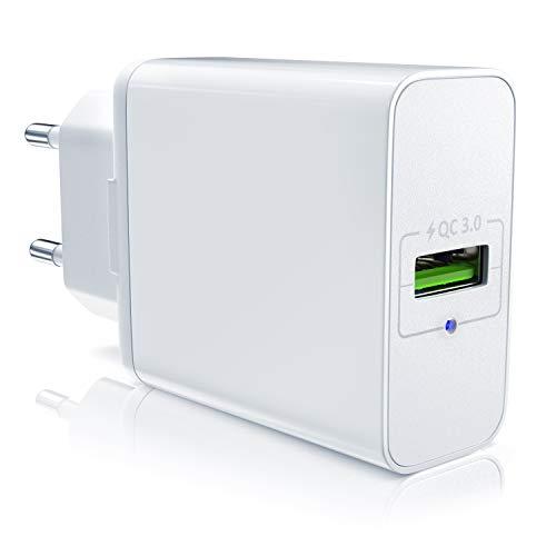 CSL - USB Ladegerät mit Schnellladefunktion | Netzteil mit Quick Charge 3.0 | Smart Charge + Solid Charge (intelligentes Laden) | geeignet für Handys, Smartphones, Tablets UVM.
