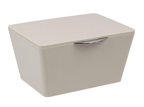 Wenko Aufbewahrungsbox mit Deckel Brasil Aufbewahrungskorb, Badkorb mit Deckel, 15,5cm x 19cm x 10cm
