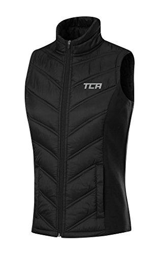TCA 'Excel Runner' Damen Thermo-Laufweste mit Reißverschlusstaschen - Schwarz , M