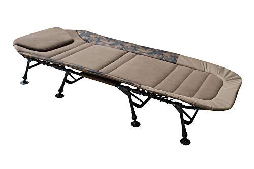 MK-Angelsport 'Fort Knox FlatSize X-Pro Camo Bedchair Karpfenliege Gartenliege Liege 8-Bein