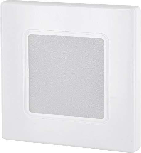 LED Wandeinbaustrahler 230V eckig weiß - für Schalterdose 60mm - eingebauter LED Trafo - warmweiß (3000 K)