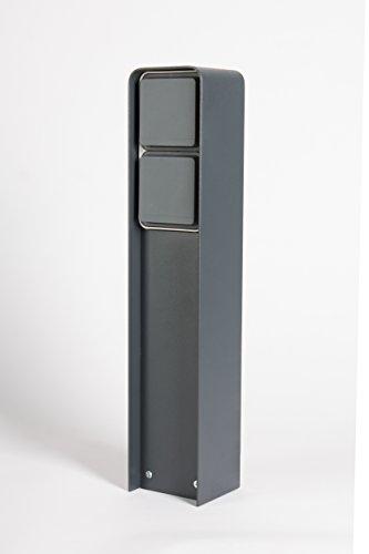 Steckdosensäule, 2 Schukosteckdosen 230V IP55, pulverbeschichtet antrazit