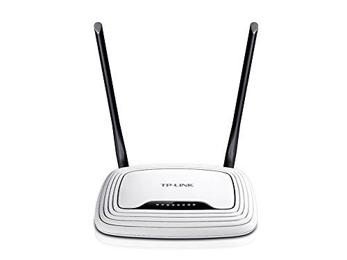 TP-Link TL-WR841N N300 WLAN Router (für Anschluss an Kabel-/DSL-/GlasfaserModem, 300 Mbit/s(2,4GHz), 2 nicht abnehmbare Antennen, IPv6, WPS, Print/Media/FTP Server)