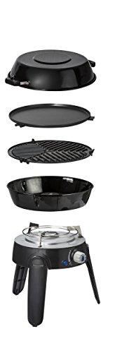 Cadac Safari Chef 2 Gasgrill, LP 50 mbar, schwarz, tragbar, inkl. Transporttasche