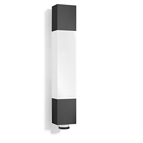 Steinel LED Außenleuchte L 631 LED anthrazit, 360° Bewegungsmelder, 8 m Reichweite, 663 lm, 8.2 W, Unterkriechschutz, 6,5 x 36,4 x 6,1 cm,  020408