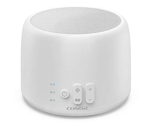Weiße Geräuschmaschine, Conor Weiße Geräuschsoundmaschine, 24 einzigartige Fan-Sounds und weiße Geräusche mit 2-Port-USB-Ladegerät, Sleep-Timer, tragbar für Insomniac, Zuhause, Büro, Reisen