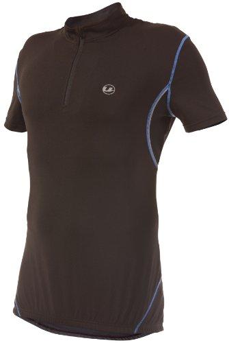Ultrasport Herren Fahrradshirt mit Reißverschluß, black victoriablue, S, 10221