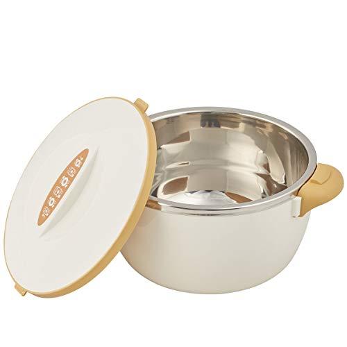 TRI 496915 Warmhalte-Schüssel, Thermoschüssel mit Deckel, Thermotopf, Isolierschüssel, Warme Speisen, Edelstahl, Kunststoff