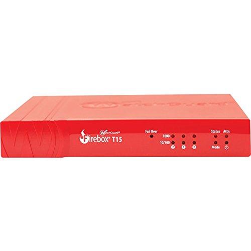 WatchGuard Firebox T15+ 1Y Standard Halterung (WW) 400Mbit/s Firewalls (Hardware)–Firewalls (Hardware) (400Mbit/s, 150MBit/s, 200Benutzer (S), kabelgebunden, Ethernet (RJ-45), SNMP V2/V3)