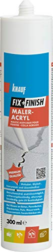 Knauf 593604 Fix+Finish Maler-Acryl, weiß, 300 ml