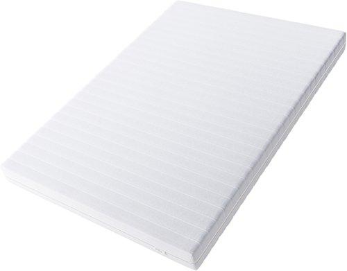 Hilding Sweden Essentials Schaumstoffmatratze in Weiß / Mittelfeste Matratze mit orthopädischem 7-Zonen-Schnitt für alle Schlaftypen (H2-H3) / 200 x 80 x 16 cm