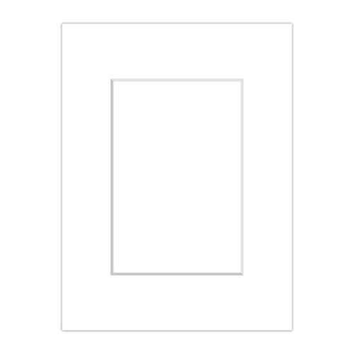 Premium Passepartout Weiß (Schneeweiß) - alle Standard Größen - 1,4mm stark - Museumsqualität (Außen: 40x50 / Innen: 30x40)