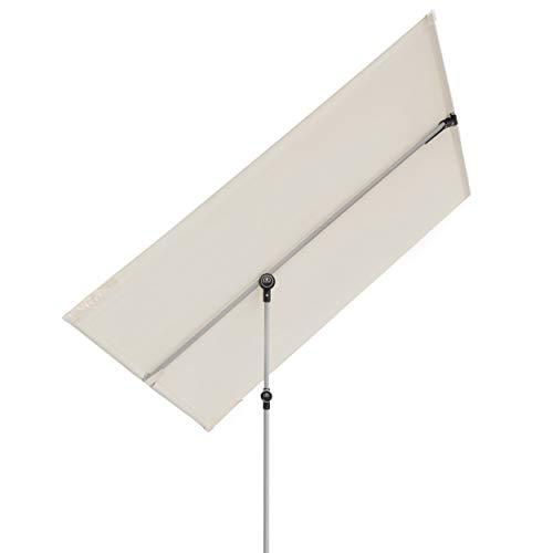 Doppler Active Balkonblende - Rechteckiger Sonnenschirm ideal für den Balkon -Plus Sichtschutz - 180x130 cm - Natur