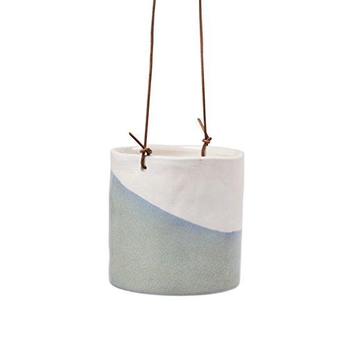 Burgon & Ball Keramik-Hängetopf Dip D12cm weiß/blau