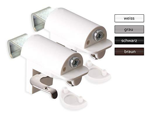 KLEMMFLEX Klemmträger BFX25 für Jalousien zur Montage direkt auf den Fensterflügel ihres PVC-/Kunststofffensters - Farbe: Weiss - OHNE Bohren - 1 Paar = 2 Stück