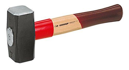 GEDORE Fäustel Rotband-Plus mit Hickorystiel, 1500 g, 1 Stück, 620 H-1500