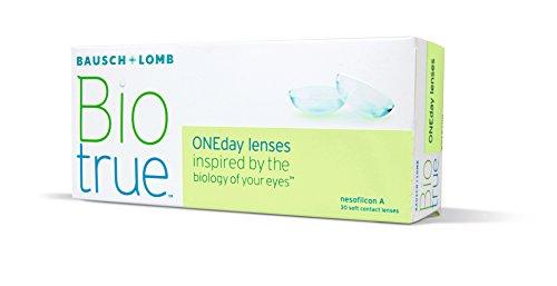 Biotrue ONEday Tageslinsen weich, 30 Stück / BC 8.6 mm / DIA 14.2 mm / -01.00 Dioptrien