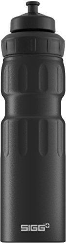 SIGG WMB Sports Black Touch, Sport Trinkflasche, 0.75 L, Aluminium, BPA Frei, Schwarz