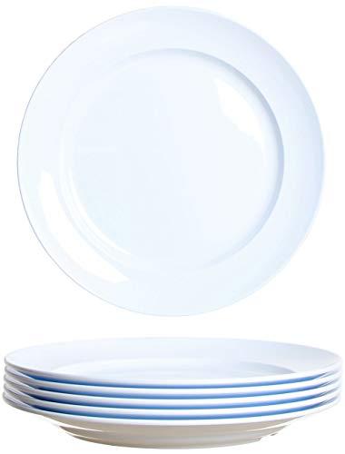 idea-station Gastro Kunststoff-Teller 6 Stück, 19.5 cm, weiß, mehrweg, bruchsicher, rund, stapelbar, Teller-Set, Speise-Teller, Plastik-Teller, Plastik-Geschirr, Camping-Teller, Kinder-Teller