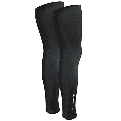 VeloChampion Thermo Tech Lite Rad-Beinstulpen, Schwarz Cycling Leg Warmers Black