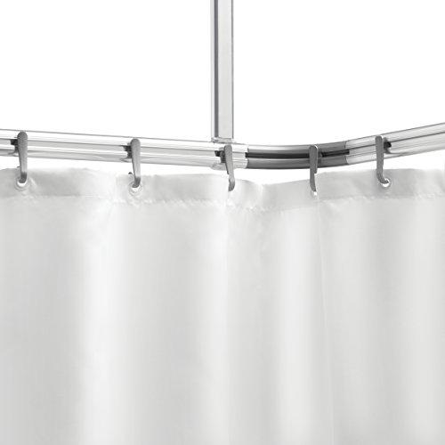 Sealskin Komplett-Set Easy-Roll-Duschvorhangstange, Aluminium, 80 x 1,5 x 2,8 cm, chrom matt