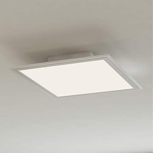 Briloner Leuchten - LED Deckenleuchte-Panel, LED-Lampe, Wohnzimmer-lampe, Deckenlampe, Deckenstrahler, 12W, quadratisch, weiß, 29.5 cm