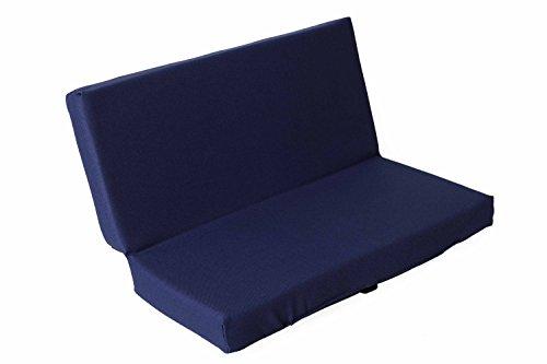 sitzZ uni Sitzkissen Blau, faltbar, klappbar, Thermokissen, Stadionkissen, Bodenkissen, für Kinder, Erwachsene, Senioren, zum Ausflug, Camping, Wandern, Outdoor, dick gepolstert, robust. 33x29,5x3,3cm