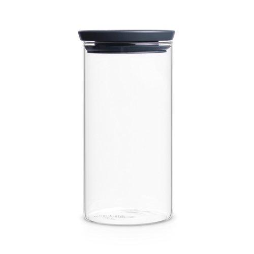Brabantia 298264 Glasbehälter 1,1 L, dunkel grau