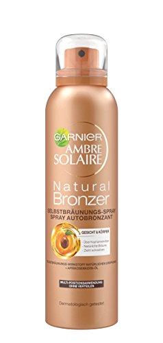 Garnier Ambre Solaire Selbstbräuner Natural Bronzer / Selbstbräunungs-Spray mit Aprikosen-Extrakt (dermatologisch getestet) 1er Pack - 150 ml