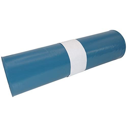 10 Rollen (1 Karton) Extra Starke Müllbeutel 120 L - Reißfeste Müllsäcke XXL - 25 STÜCK je Rolle - Stabile Mülltüten blau für Haushalt, Baustelle und Gastronomie als Abfallsack