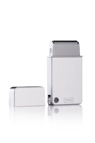 Trebs Akku-Rasierer mit ausklappbarem USB-Stecker und ultradünnem Scherkopf in hochwertiger Geschenkverpackung – ideal für unterwegs