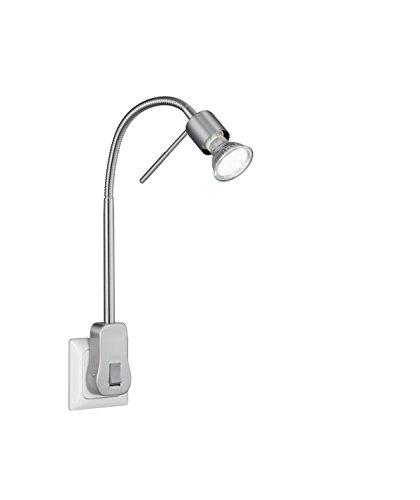 Trio Leuchten LED Steckerspot, Metall, GU10, 5 W, Nickel Matt, 16 x 4.7 x 40 cm
