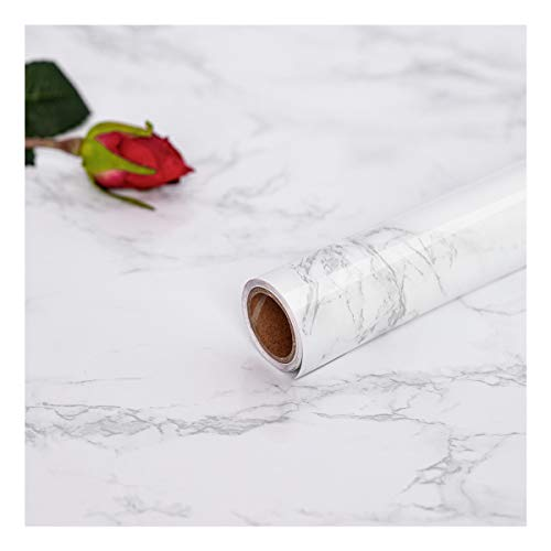 Hode Marmor Folie Selbstklebende,30 cm × 200 cm,PVC,Vinyl,Klebefolie Küche,Fensterbank Folie,Klebefolie Marmor,Marmor Tapeten für Wände, Türen, Möbel