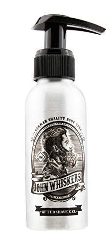 John Whiskers Aftershave Gel for Men - Made in Germany - mit Aloe Vera - ideale Gesichtspflege nach der Rasur