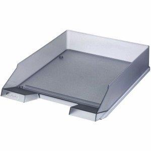 Herlitz 10074144Becken Aufbewahrungsschuppen Büro–Becken Aufbewahrungsschuppen Büro (grau, transparent, Kunststoff)