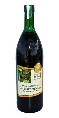 Günstiges Probierangebot 1000 ml Kürbishof DEIMELs Steirisches Kürbiskernöl ggA. Direkt von uns als Erzeuger geliefert.