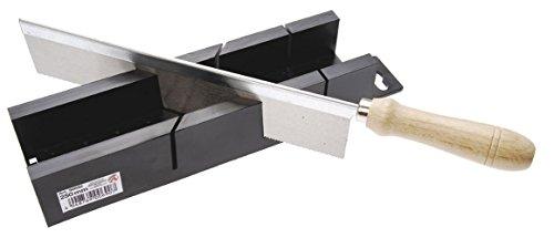 KRAFTMANN 50850 Gehrungssäge mit Feinsäge geeignet für 45 und 90 Grad Gehrungsschnitte