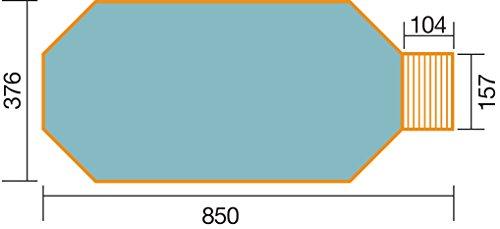 weka Massivholzpool 593 B Gr.1,Alles dabei, inkl. Technik Sandfilteranlage Medium und Technikraum