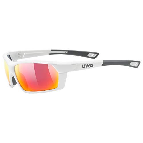Uvex Erwachsene Sportstyle 225 Sportbrille, White mat, One Size