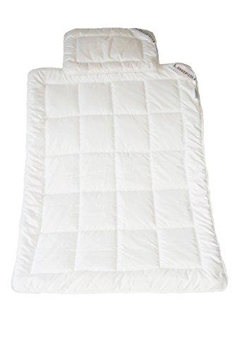 Luxusfeder - Kinder Steppbett Set atmungsaktiv + allergikergeeignet | Bettdecke 100x135 cm + Kopfkissen 40x60 cm | Öko-Tex zertifiziert
