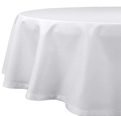 Gastronomie Hotel Tischdecke, Tischwäsche Vollzwirn Baumwolle, Weiß Rund 120 cm