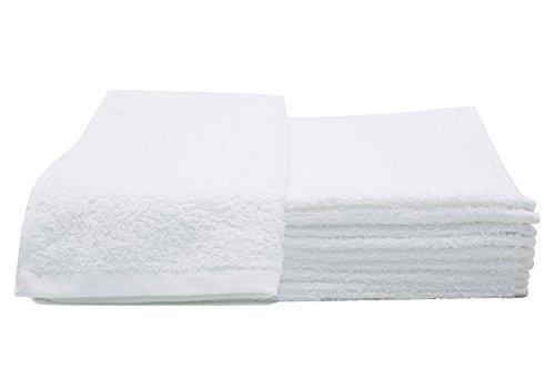 ZOLLNER 10er Set Gästetücher / Gästehandtücher / Handtuch 30x50 cm weiß, aus 100% saugfähiger Baumwolle, Qualität ca. 450 g/qm, direkt vom Hotelwäschespezialisten, Serie 'Amalfi'